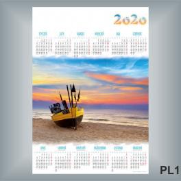 Kalendarz jednoplanszowy A1 24 WZORY