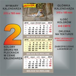 Kalendarz trójdzielny indywidualny