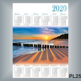 Kalendarz Jednoplanszowy B1 12 WZORÓW