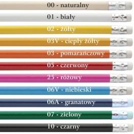 Ołówek z białą gumką A00001