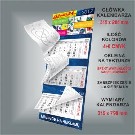 Kalendarz trójdzielny z kolorowankami