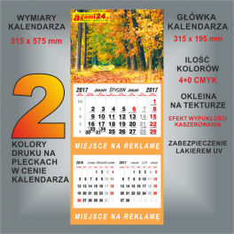 Kalendarz dwudzielny indywidualny