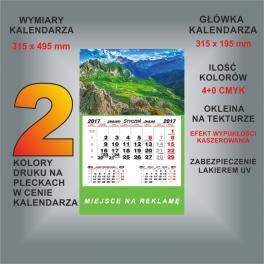 Kalendarz jednodzielny 24 wzory główek