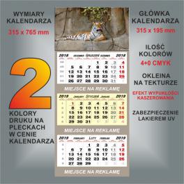 Kalendarz trójdzielny 24 wzory główek
