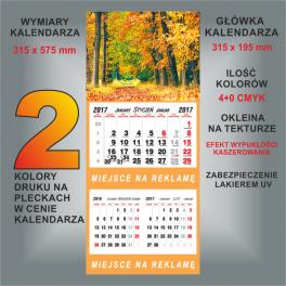 Kalendarz dwudzielny 24 wzory główek